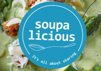 Donatie soep aan de Voedselbank